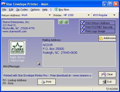 برنامج رائع للطباعة المغلفات البريدية